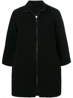 Пальто на молнии Gianluca Capannolo. Цвет: чёрный