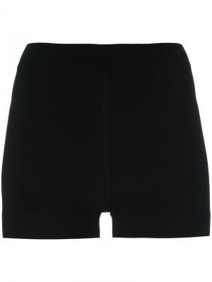 Облегающие шорты Alaïa. Цвет: чёрный