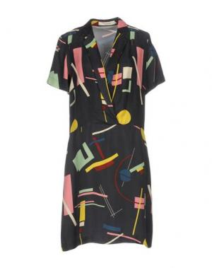 Короткое платье NICE THINGS by PALOMA S.. Цвет: свинцово-серый