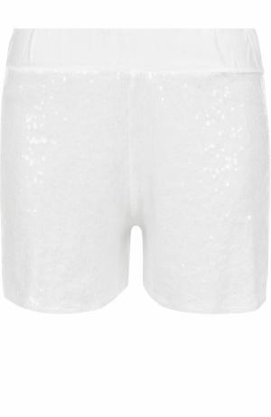 Мини-шорты с пайетками Deha. Цвет: белый