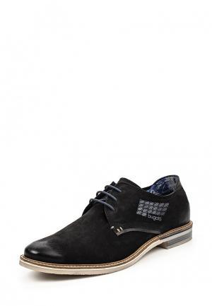 Туфли Bugatti. Цвет: черный