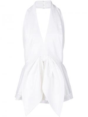 Sleeveless bow blouse C/Meo. Цвет: белый