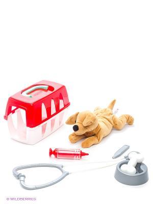 Набор ветеринара в чемоданчике, 24*14*15см, 1/10 Ecoiffier. Цвет: красный, белый