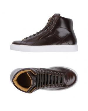 Высокие кеды и кроссовки MR.HARE. Цвет: темно-коричневый