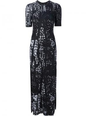 Длинное платье с разрезами по бокам Yigal Azrouel. Цвет: чёрный