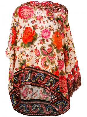 Туника с цветочным принтом Anjuna. Цвет: многоцветный