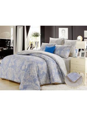 Комплект постельного белья, Джоли, Семейный KAZANOV.A.. Цвет: голубой