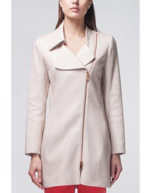 Однотонное пальто Bouchra Jarrar. Цвет: бежевый