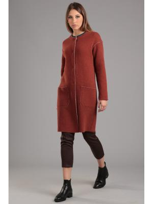 Пальто ЭНСО. Цвет: рыжий