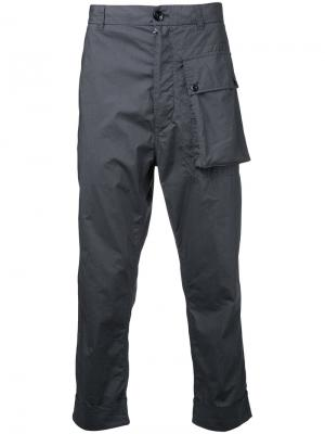 Укороченные брюки Wooster + Lardini. Цвет: серый
