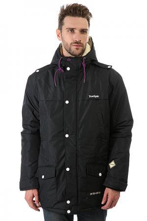 Куртка парка  Fishtail Black TrueSpin. Цвет: черный