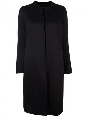 Пальто без воротника Ahirain. Цвет: чёрный