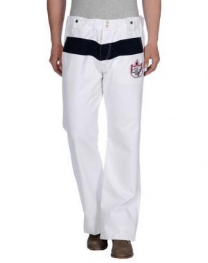 Повседневные брюки PARASUCO CULT. Цвет: белый