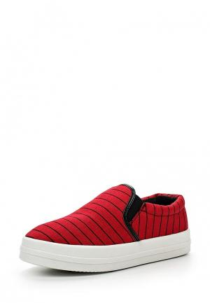 Слипоны Sweet Shoes. Цвет: красный