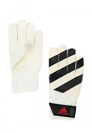 Перчатки вратарские adidas Performance. Цвет: черно-белый