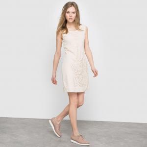 Платье ажурное без рукавов - , LADIES WOVEN DRESS MOLLY BRACKEN. Цвет: бежевый