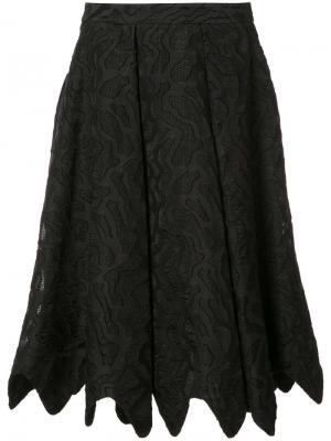 Жаккардовая юбка Dani Zac Posen. Цвет: чёрный