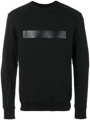 Толстовка с логотипом Philipp Plein. Цвет: чёрный