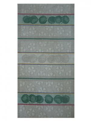Полотенце Яблоневый цвет Белорусский Лен. Цвет: бирюзовый, серый