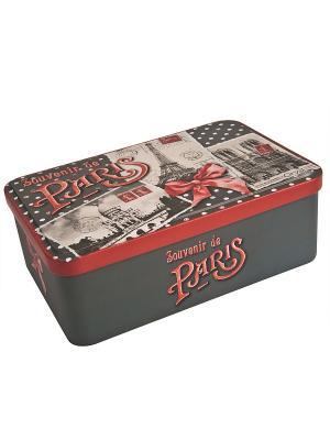 Контейнер для хранения сахара 20х13х7 Воспоминания о Париже Orval. Цвет: белый, черный, красный