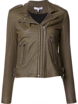 Байкерская куртка Iro. Цвет: зелёный