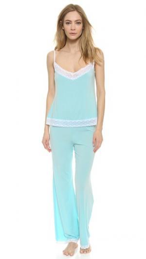 Пижама с майкой Cheek Frills. Цвет: голубой