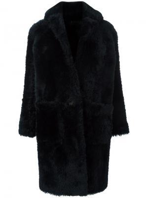 Пальто свободного кроя Helmut Lang. Цвет: синий