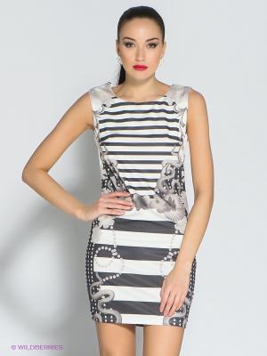 Платье Eunishop. Цвет: белый, черный