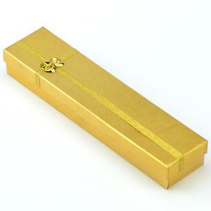 Подарочная коробка под бусы, браслеты и цепочки  УП-170 Бусики-Колечки. Цвет: желтый