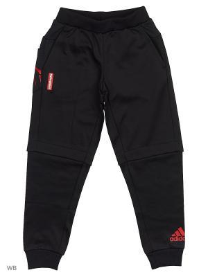 Трикотажные брюки дет. спорт. LK DYQ SM PANT  BLACK/SCARLE Adidas. Цвет: черный