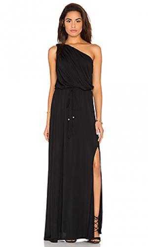 Платье leda Ella Moss. Цвет: черный