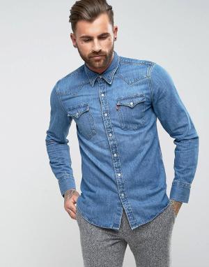 Levis Джинсовая рубашка в стиле вестерн Barstow. Цвет: синий