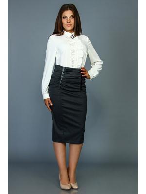 Блузка Стиль Fashion Lux. Цвет: белый