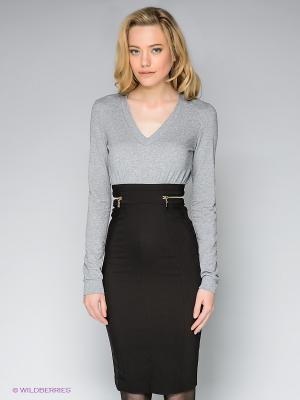 Платье FRACOMINA. Цвет: черный, серый меланж