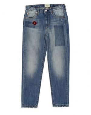 Джинсовые брюки BELLEROSE KIDS. Цвет: синий