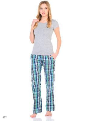 Домашние брюки JANNETTE. Цвет: синий, зеленый