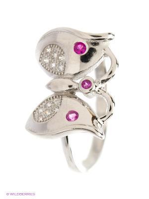 Ювелирное кольцо Happy Garnets. Цвет: серебристый, розовый