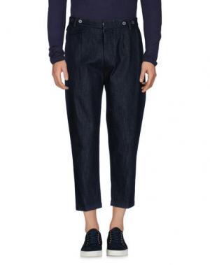 Джинсовые брюки JOHN SHEEP. Цвет: синий