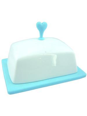 Масленка фарфоровая BOHMANN. Цвет: синий