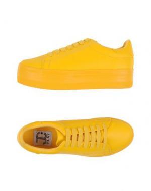 Низкие кеды и кроссовки JC PLAY by JEFFREY CAMPBELL. Цвет: желтый