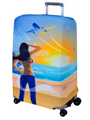 Чехол для чемодана  Hellow Yellow L/XL Coverway. Цвет: желтый