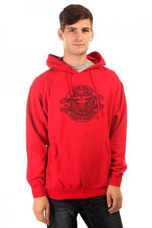Толстовка кенгуру  Brand Seal Pullover Hood Red/Black Fallen. Цвет: красный