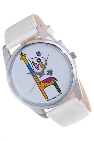Часы Жирафик MITYA VESELKOV. Цвет: белый