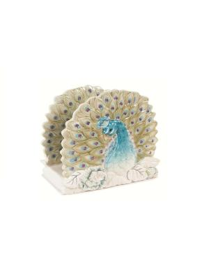 Салфетница Жар-птица Elff Ceramics. Цвет: белый, голубой
