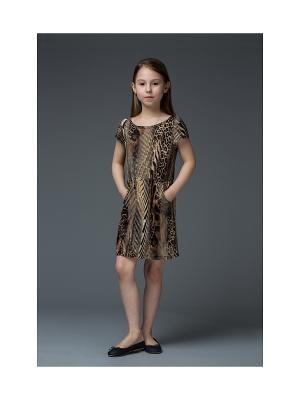 Платье Mammi. Цвет: коричневый