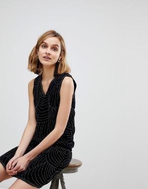 Deby Debo Платье с блестящей отделкой Janvier. Цвет: темно-синий