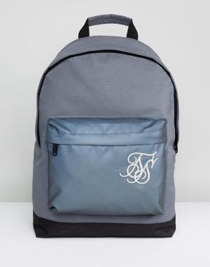SikSilk Серый рюкзак со светоотражающей вставкой. Цвет: серый
