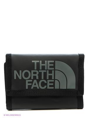 Бумажник The North Face. Цвет: антрацитовый, серый