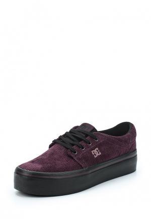 Кеды DC Shoes. Цвет: фиолетовый