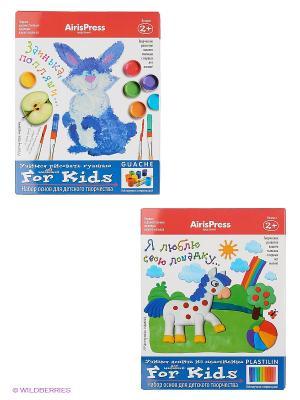 Мастерская малыша. Набор основ для детского творчества (Лошадка, Заинька) 2+ АЙРИС-пресс. Цвет: белый, зеленый, красный